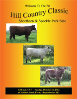 Front cover of the Hill Country Classic sale catalogue